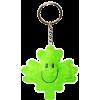 Plush Keychain- Green Maple Leaf