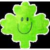 Plush Magnet - Green Maple Leaf