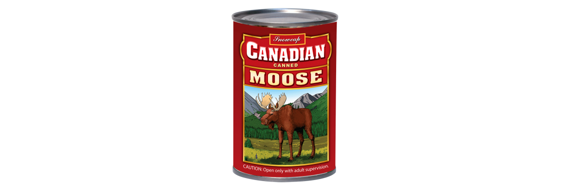 Canned Plush Moose