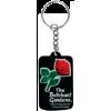 Keychain-PVC Butchart Gardens-black