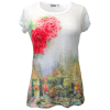 Women Burnout T-Shirt The Butchart Garden
