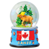 Magnetic Snow Globe - Banff Moose
