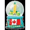 Magnetic Snow Globe - Ottawa