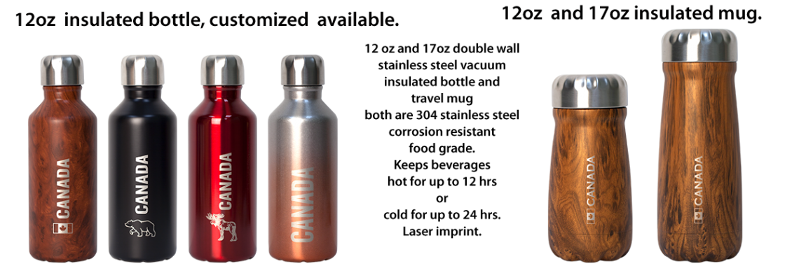 Small bottle and travel mug